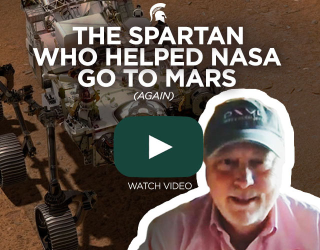 picture of mars and man with words, The Spartan who helped NASA go to Mars (again)