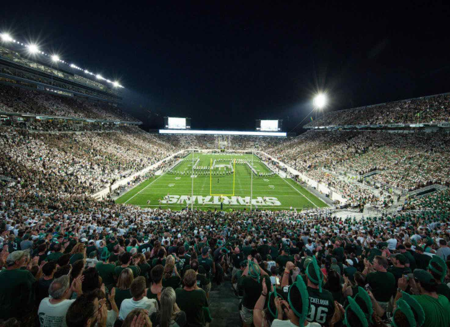 Spartan Stadium at night